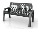 Frost 2040 - Stream 4' bench black